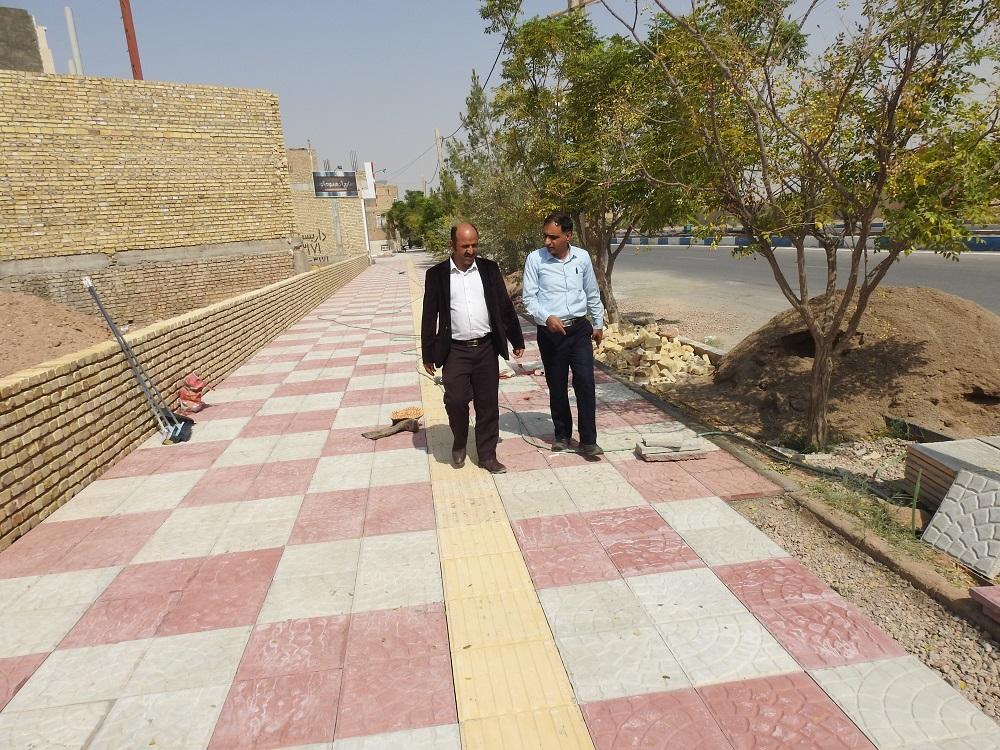 گزارش تصویری بازدید مهندس میرنژاد شهردار شاهدیه از پروژه های عمرانی شهر