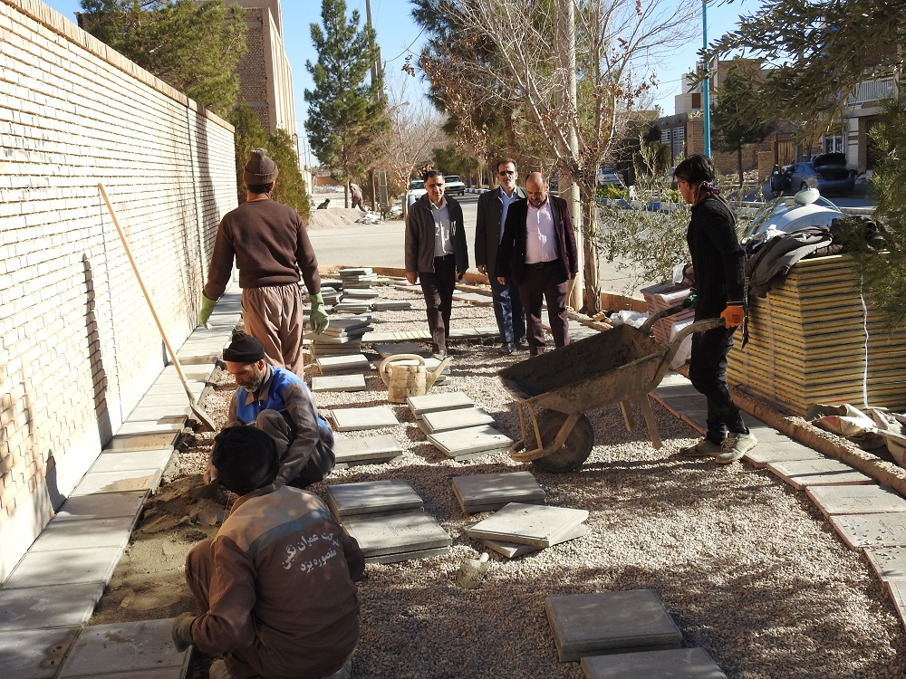 گزارش تصویری بازدید مهندس میرنژاد شهردار شاهدیه از پروژه های عمرانی شهرداری